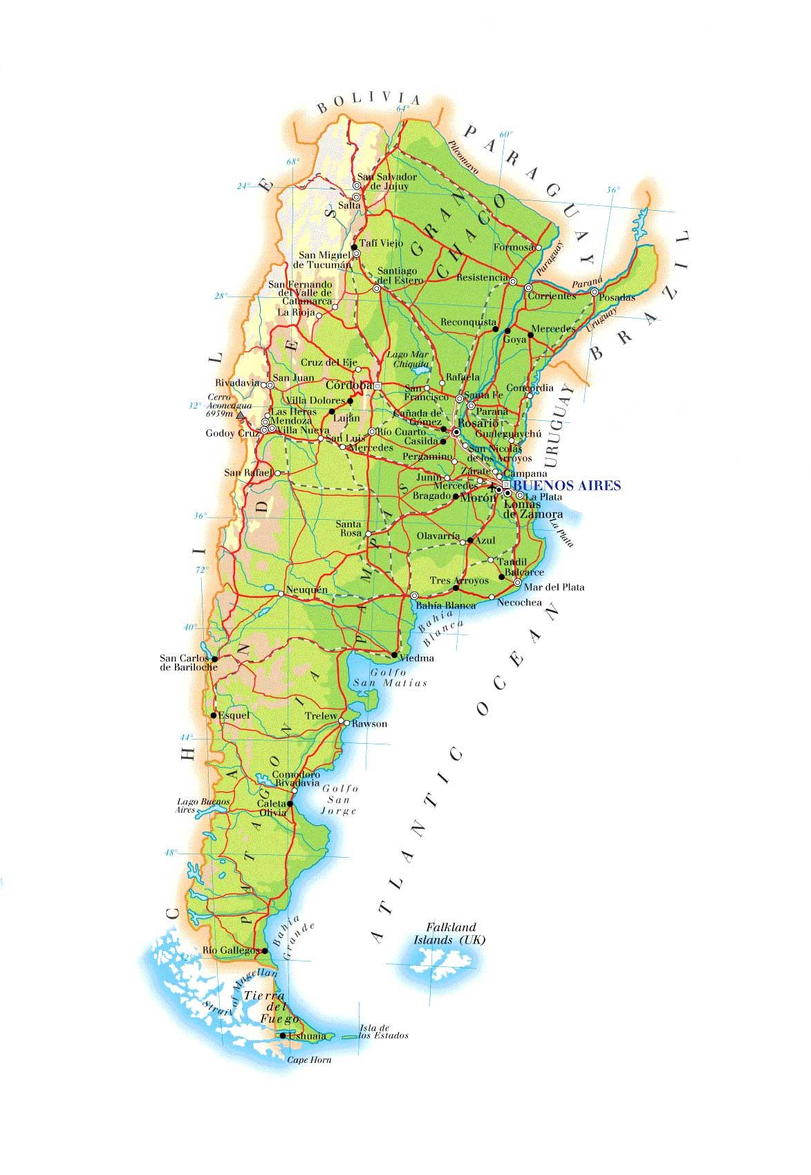 Argentina Weather Brazil - Argentina rainfall map